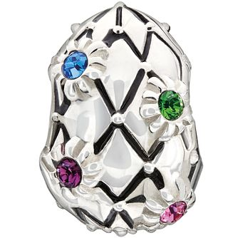 Chamilia Silver Multi Coloured Swarovski Crystal Egg Bead - Product number 1600222