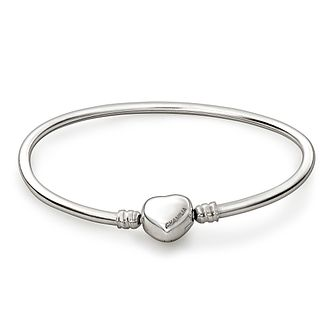Chamilia Sterling Silver Oval Small Bangle With Heart Snap - Product number 1600346