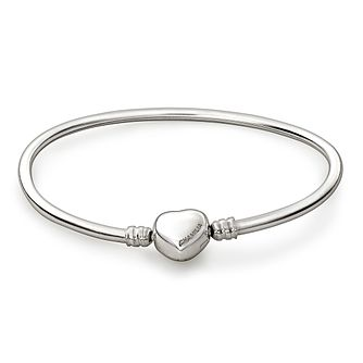 Chamilia Sterling Silver Medium 7.9in Heart Snap Bangle - Product number 1600354