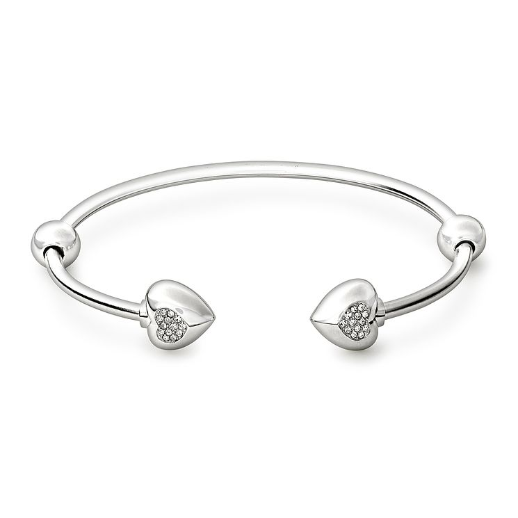 school asp uk flat p girls bangles charm jewellery bangle silver sterling plain