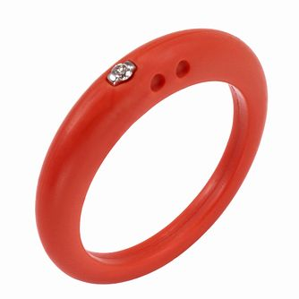 Due Punti diamond red ring size small - Product number 1600664