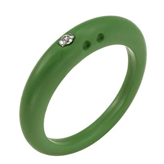 Due Punti diamond green silicone ring size large - Product number 1601008