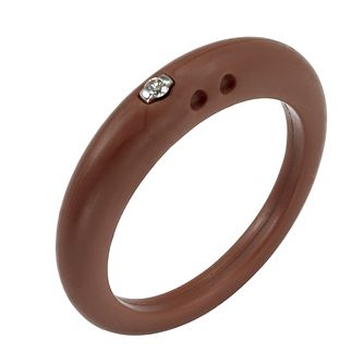 Due Punti diamond brown silicone ring size medium - Product number 1601164