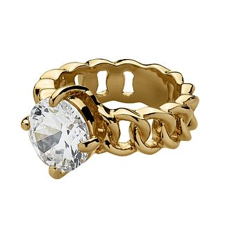 Dyrberg Kern Gold-Plated Solitaire Ring S-M - Product number 1604139
