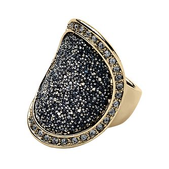 Dyrberg Kern Gold-Plated Black Dust Ring S-M - Product number 1604155