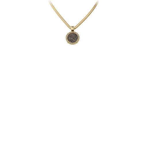 Dyrberg Kern Gold-Plated Black Dust Pendant - Product number 1604171