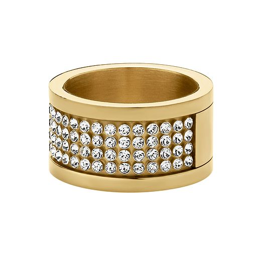 Dyrberg Kern Gold-Plated Crystal Ring M-L - Product number 1604333