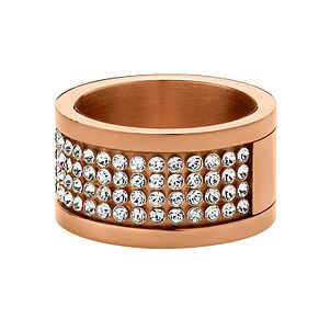 Dyrberg Kern Rose Gold-Plated Crystal Ring S-M - Product number 1604341