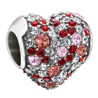 Chamilia sterling silver red Swarovski crystal heart charm - Product number 1605003