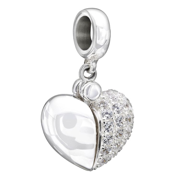 Chamilia sterling silver crystal secret message heart bead - Product number 1605216