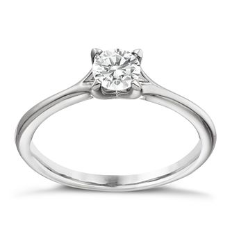 Platinum 40 point diamond solitaire 4 claw ring - Product number 1641301