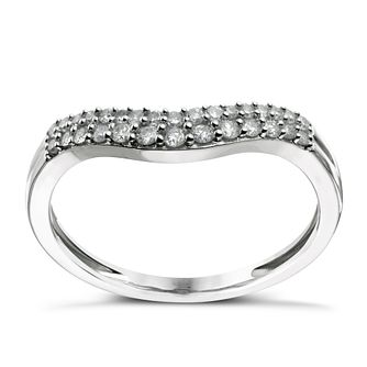 9ct white gold 20 point diamond shaped ring - Product number 1643509