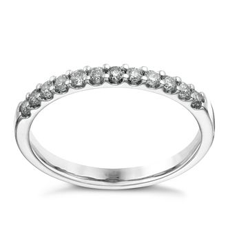 9ct white gold 0.25ct diamond claw set eternity ring - Product number 1650092