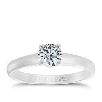 Leo Diamond 18ct white gold 1/2ct I-I1 solitaire ring - Product number 1659545