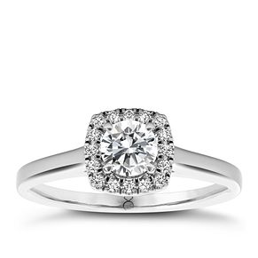 The Diamond Story 18ct White Gold 1/3ct diamond ring - Product number 1661639