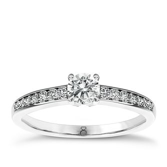 The Diamond Story 18ct White Gold 1/3 carat diamond ring - Product number 1664212