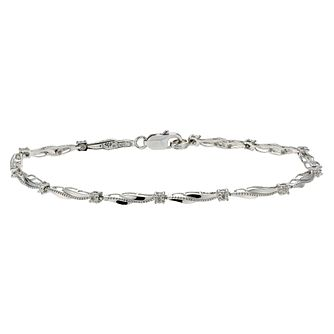 Sterling Silver Diamond Bracelet - Product number 1664506