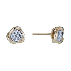 9ct Gold Diamond Illusion Stud Earrings - Product number 1664891