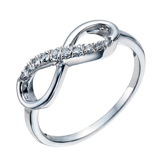 Sterling Silver 1/10 Carat Diamond Infinity Ring - Product number 1668358