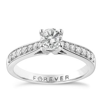 Platinum 3/4 Carat Forever Diamond Ring - Product number 1671863