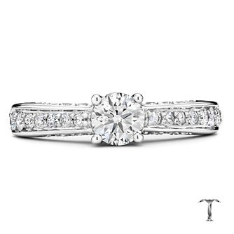 Tolkowsky 18ct white gold 1ct I-I1 diamond ring - Product number 1673920