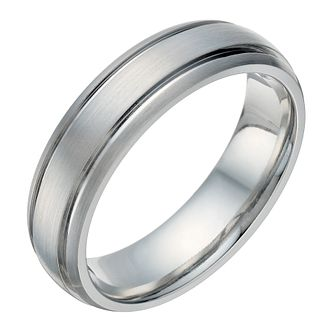 cobalt groove detail 6mm ring product number 1696874 - Grooms Wedding Ring