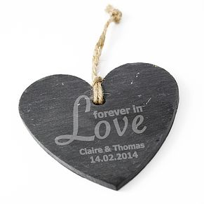 Personalised 'Forever In Love' Slate Heart - Product number 1715984