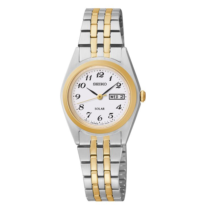 Seiko Solar Ladies' Two Tone Bracelet Watch - Product number 1717227