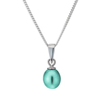 Sterling Silver Teal Freshwater Pearl Pendant - Product number 1735713