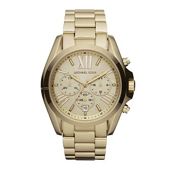Michael Kors Ladies' Chronograph Gold Tone Bracelet Watch - Product number 1736582