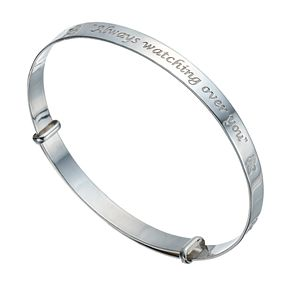 Sterling Silver Children's 'Always Watching Over You' Bangle - Product number 1741942