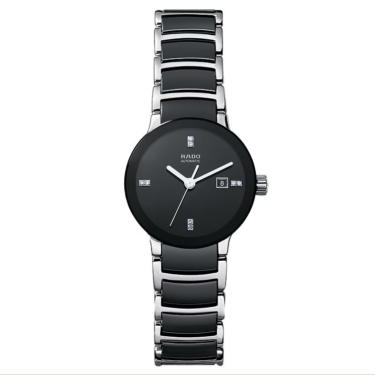 Rado ladies' black ceramic & stainless steel bracelet watch - Product number 1742442