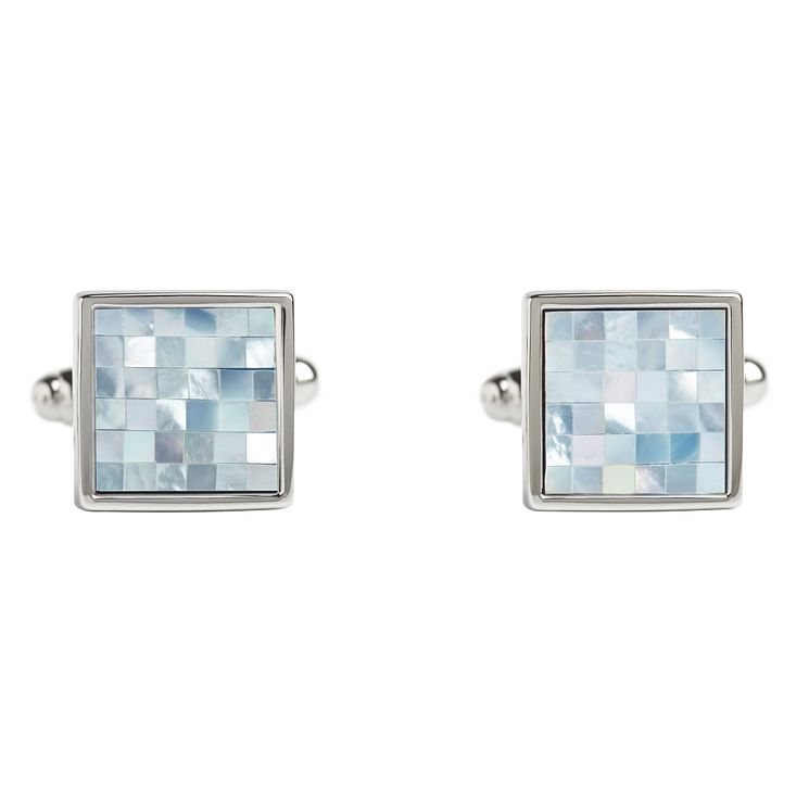 Simon Carter blue mother of pearl square cufflinks - Product number 1746197
