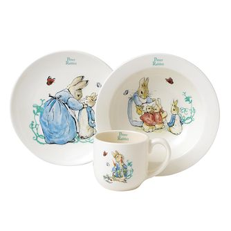 Beatrix Potter - Peter Rabbit Plate, Bowl & Cup 3 Piece Set - Product number 1750003