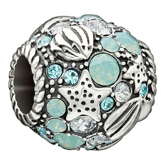 Chamilia 'Buried Treasure' blue Swarovski crystal charm - Product number 1751034