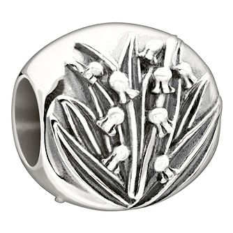 Chamilia sterling silver 'Garden Club May Lily' bead - Product number 1751115