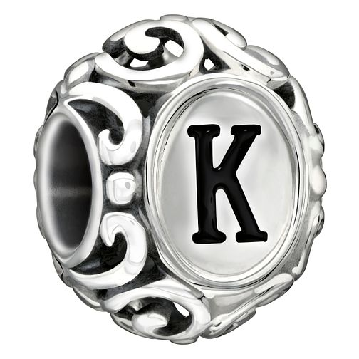 Chamilia sterling silver letter K bead - Product number 1751301