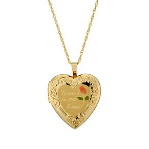 "Together Silver & 9ct Bonded Gold 18"" Heart Locket - Product number 1751565"