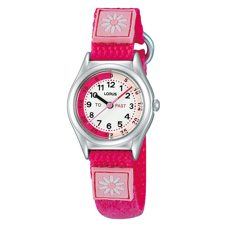 Lorus Children's Pink Time Teacher Daisy Watch - Product number 1763695