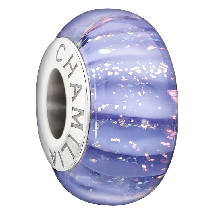 Chamilia Sterling Silver Violet Murano Glass Bead - Product number 1765930