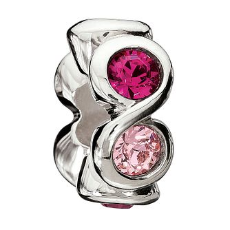 Chamilia Sterling Silver Pink Crystal Circles Bead - Product number 1767364