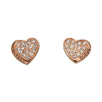 Guess Desert Beauty Rose Gold-Plated Heart Stud Earrings - Product number 1771132