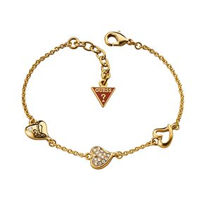 Guess Gold-Plated Triple Heart Station Bracelet - Product number 1771485