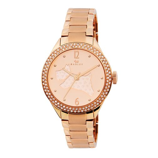 Radley Ladies' Stone Set Rose Gold-Plated Bracelet Watch - Product number 1775308