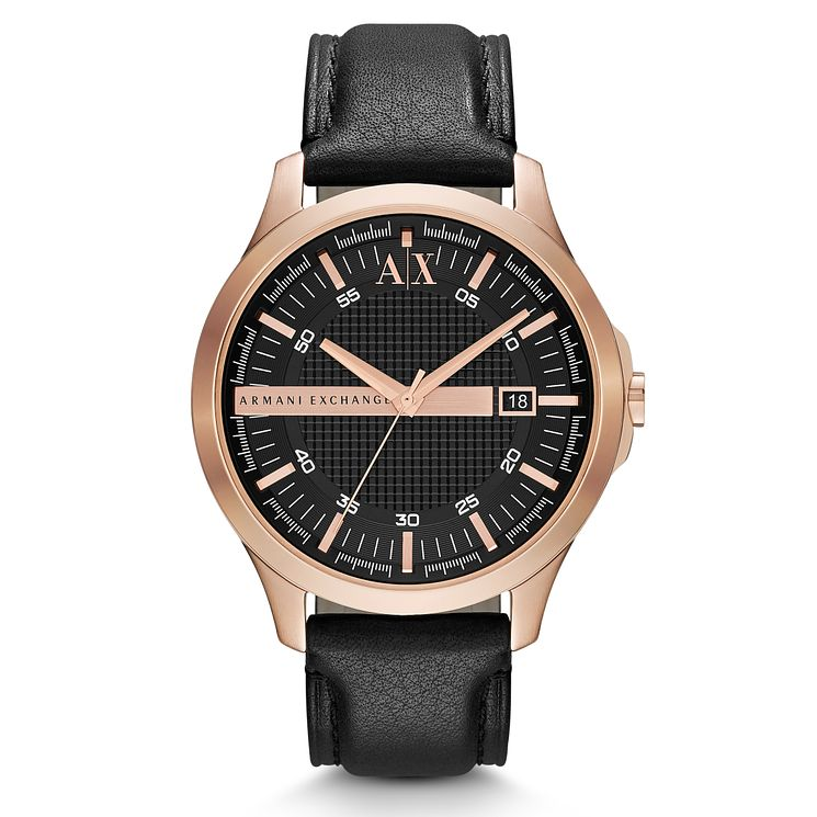 Armani Exchange Men's Black Leather Strap Watch - Product number 1776401