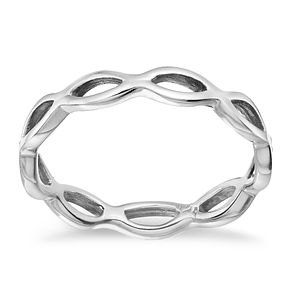 Sterling Silver Open Wave Ring Size L - Product number 1782789