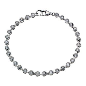 Sterling Silver Cubic Zirconia Tennis Bracelet - Product number 1782908