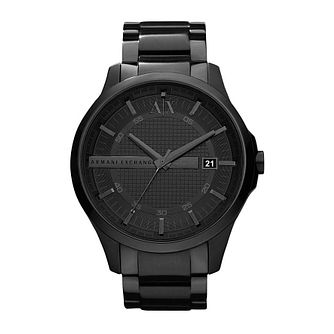 Armani Exchange Men's Black Ion-Plated Bracelet Watch - Product number 1785540