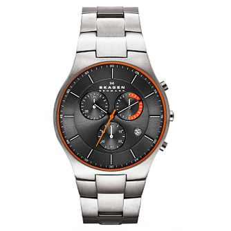 Skagen Aktiv Men's Titanium & Stainless Steel Bracelet Watch - Product number 1845152