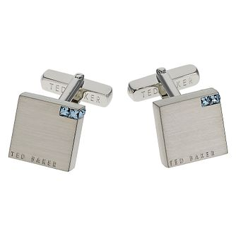 Ted Baker Brass Cornered Blue Crystal Cufflinks - Product number 1864173